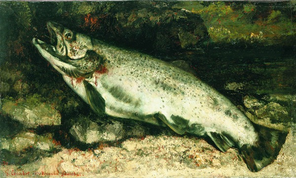 Gustave Courbet portrait of a trout
