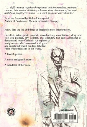 Aleister Crowley Wandering the Waste - preview back cover
